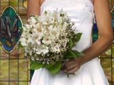 Alstroemeria bouquet with wax flowers