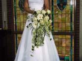 Cascade style wedding bouquet