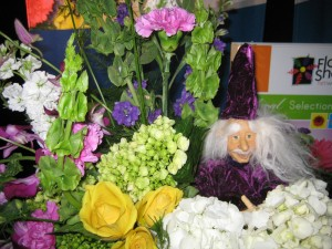 Mr. Wizard in the Flower Shop Network Booth Flower Arrangement