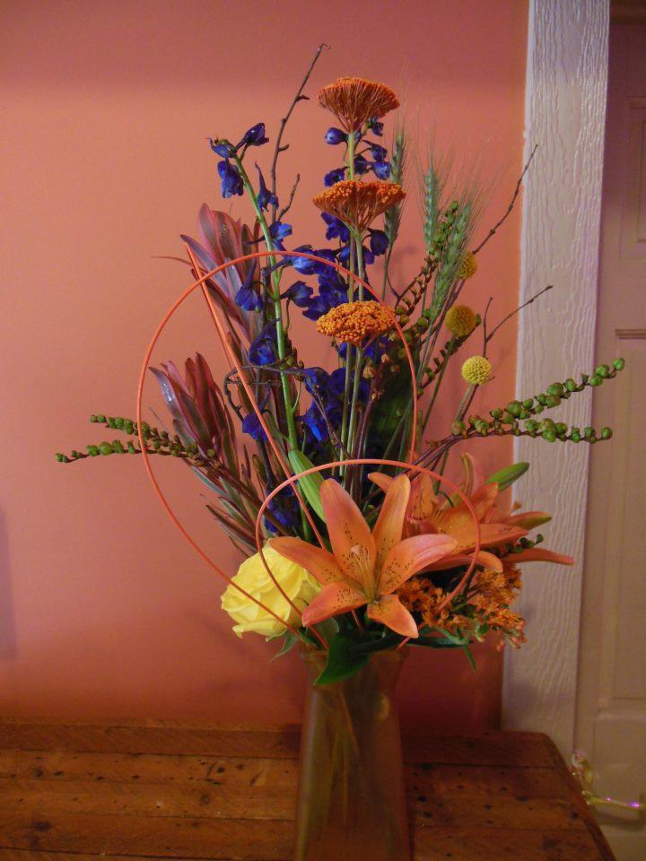 Fall design by Back to the Fuchsia Florist, Saugatuck MI