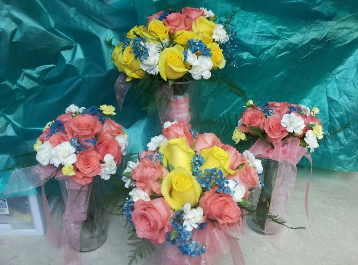 Wedding party flowers by Buds & Blossoms, Edgewood MD
