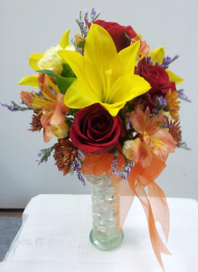 Fall arrangement by Buds & Blossoms, Edgewood MD