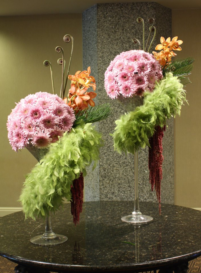 Art deco designs by Crossroads Florist, Mahwah NJ