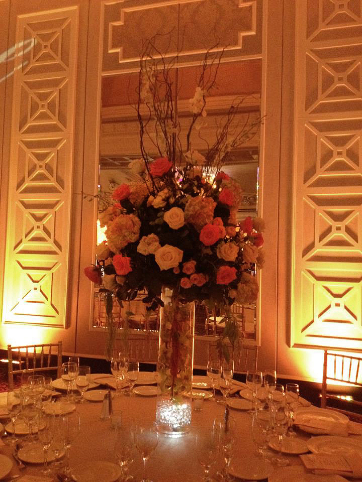 Wedding centerpiece by E&E Flowers and Gifts, Edison NJ