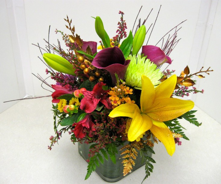 Fall flowers by Folger's Four Seasons Florist, Columbus IN