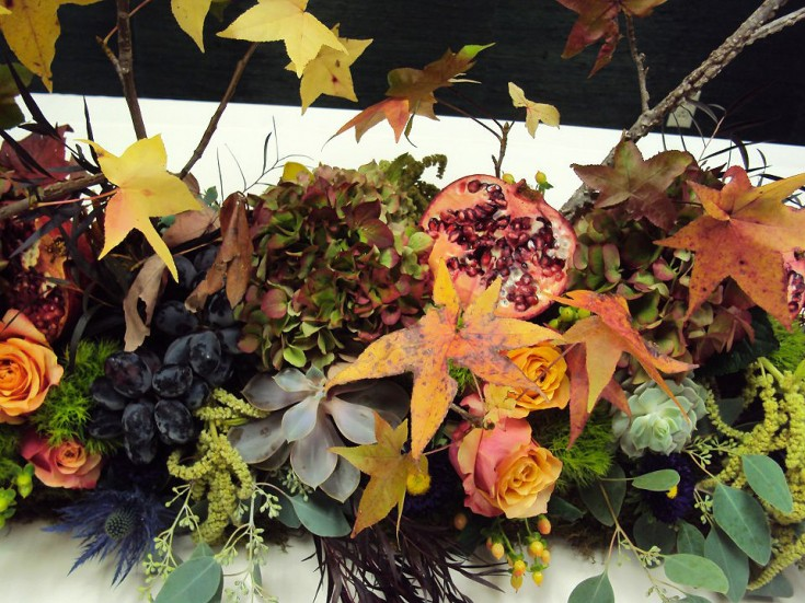 Details of a fall floral tablescape by Forget Me Not Flowers & Gifts, Chandler TX