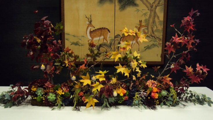 Fall floral tablescape by Forget Me Not Flowers & Gifts, Chandler TX
