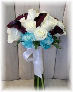 Rose & calla lily bouquet by MaryJane's Flowers & Gifts, Berlin NJ