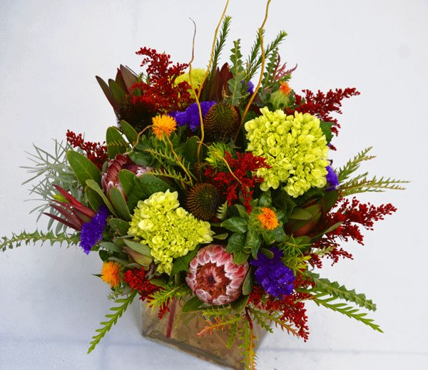 Early fall flower arrangement by Trigs Floral & Home in Minocqua, WI