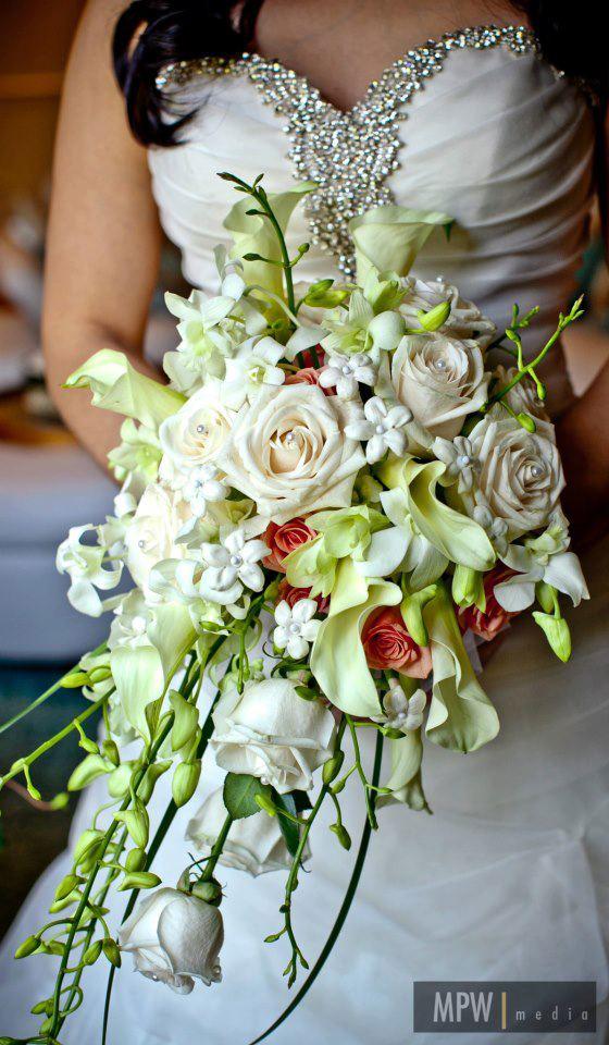 Cascade Bouquet by E&E Flowers, Edison NJ