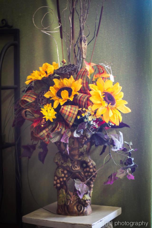 Fall flowers by Petal's Floral Boutique, Hartwell GA