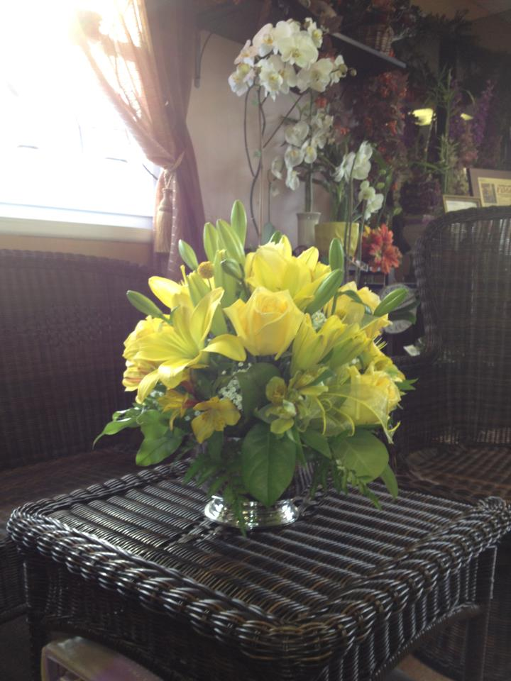 Yellow Flower Arrangement by Flower Boutique in Cherry Hill NJ