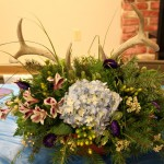 Unique antler wedding centerpiece by The Flower Shoppe, Alexandria PA