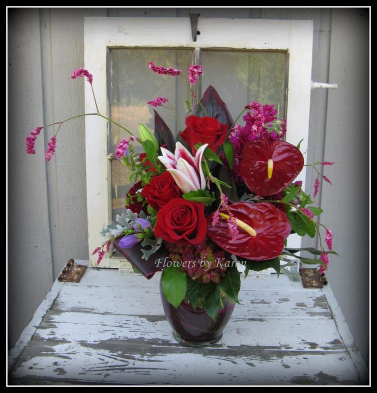 Anniversary arrangement by Flowers by Karen, Monroe WA