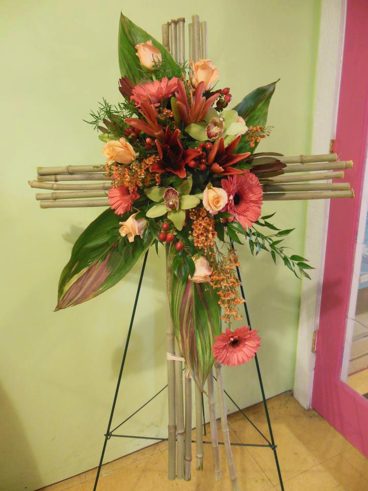 Beautiful cross spray by Back to the Fuchsia, Saugatuck MI