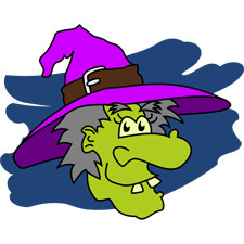 Green Witch for Halloween