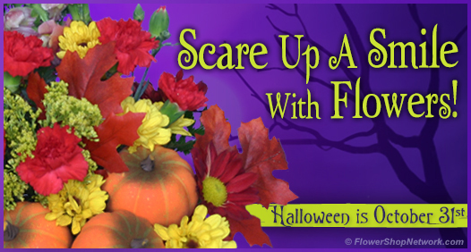 Scare Up A Smile With Halloween Flowers