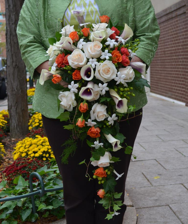 Cascading Fall Bouquet By Monday Morning Flowers, Princeton NJ