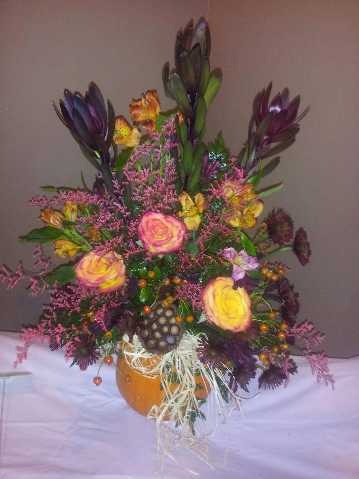 Fall flower arrangement by Personal Touch Florist, Galax VA