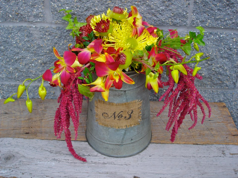Rustic fall arrangement by The Petal Patch, McFarland WI