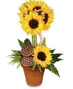 Pot-O-Sunflowers - Topiary Arrangement
