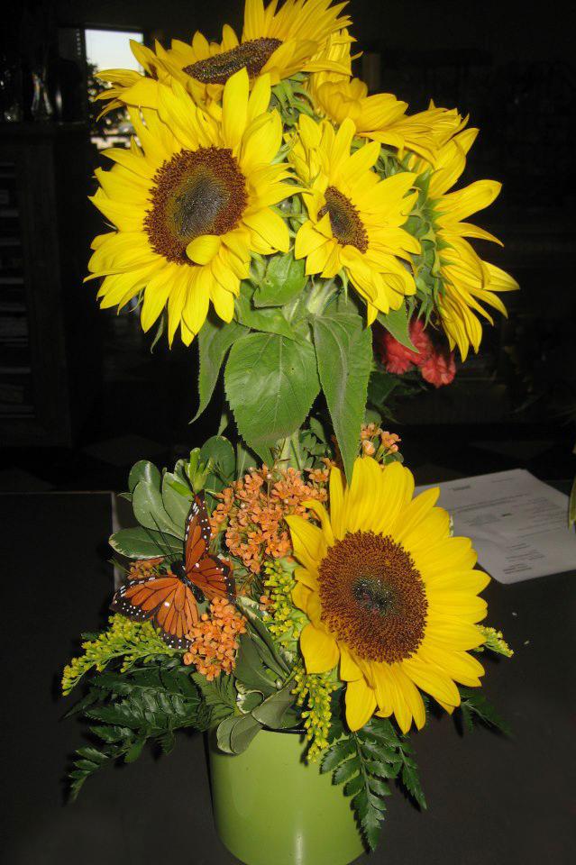 Sunflower fall arrangement by Auburn Flowers & Gifts, Auburn AL