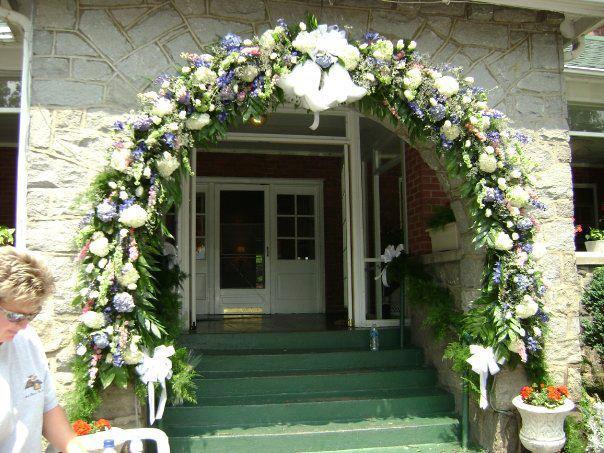 Swannanoa Wedding Arch by Swannanoa Flower Shop