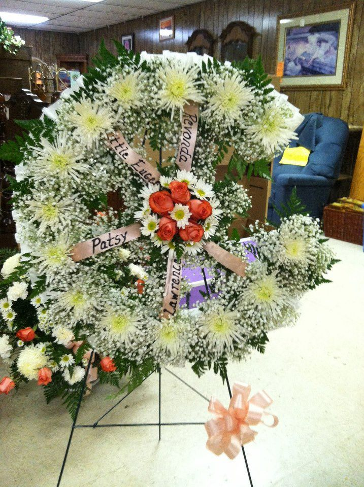 Broken Wheel Funeral Arrangement, Swannanoa Flower Shop, NC