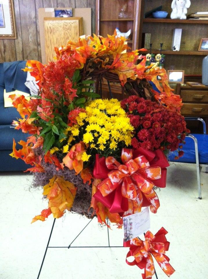 Fall Funeral Flowers by Swannanoa Flower Shop, Swannanoa NC