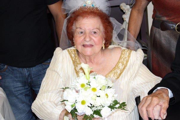 Beautiful Bride With Vintage Replica Bouquet