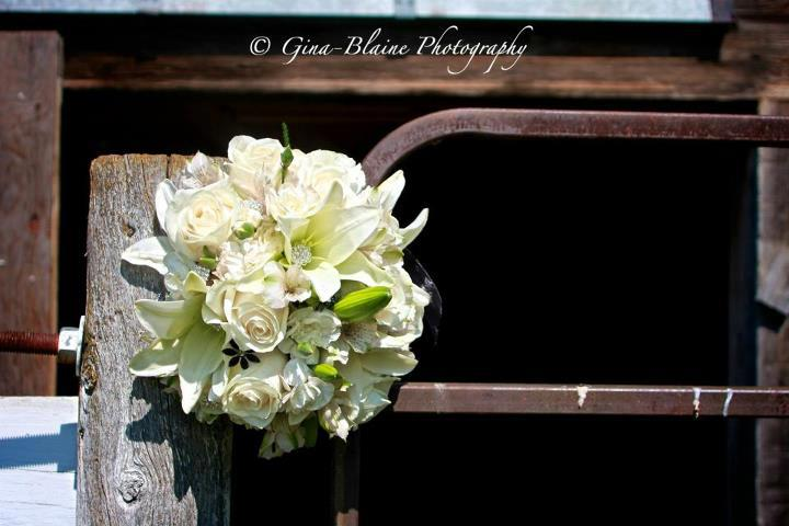 White Wedding Bouquet by Petals Plus, Mayerthorpe AB CA