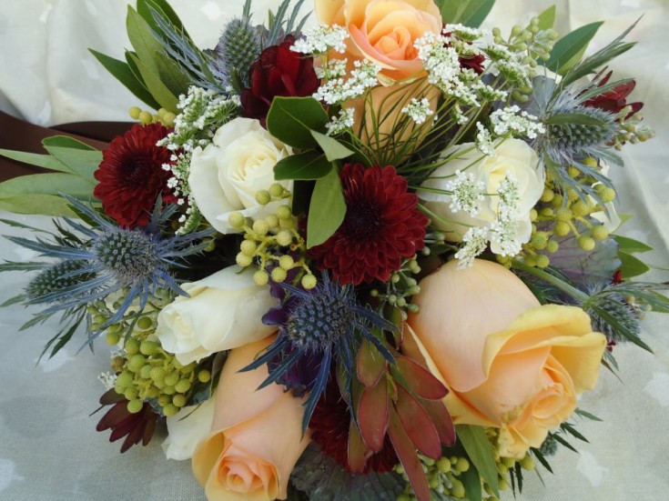 Wedding bouquet by Alma Blooms, Alma WI