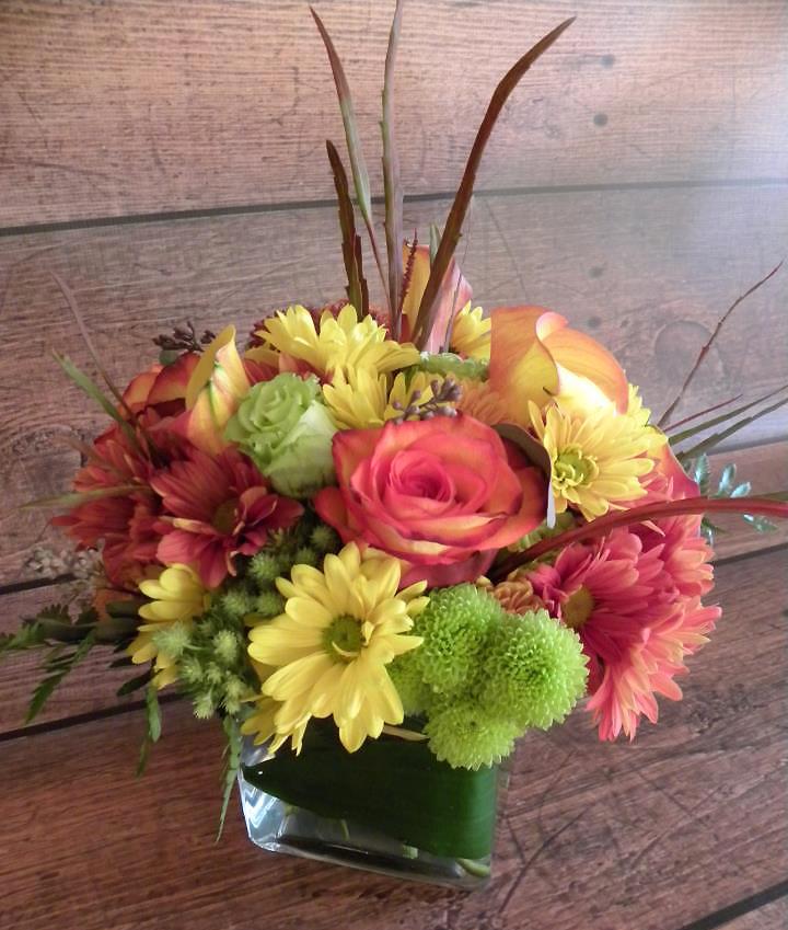 Fall flowers by Ann's Balloons & Flowers, Birmingham AL