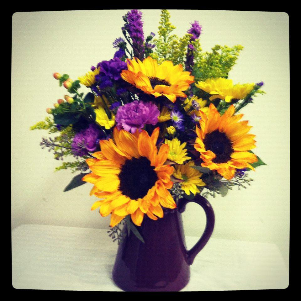 Sunflower arrangement by Bev's Floral & Gifts, Parowan UT