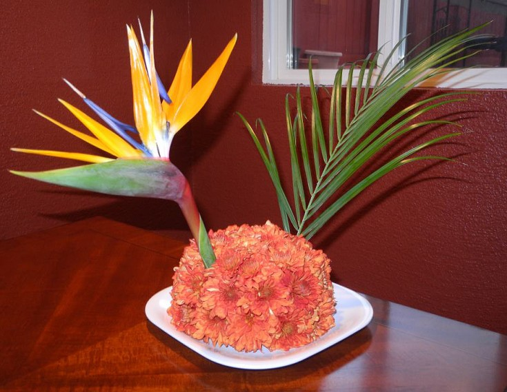 Tropical turkey by Blooming Art Floral Design, San Diego CA