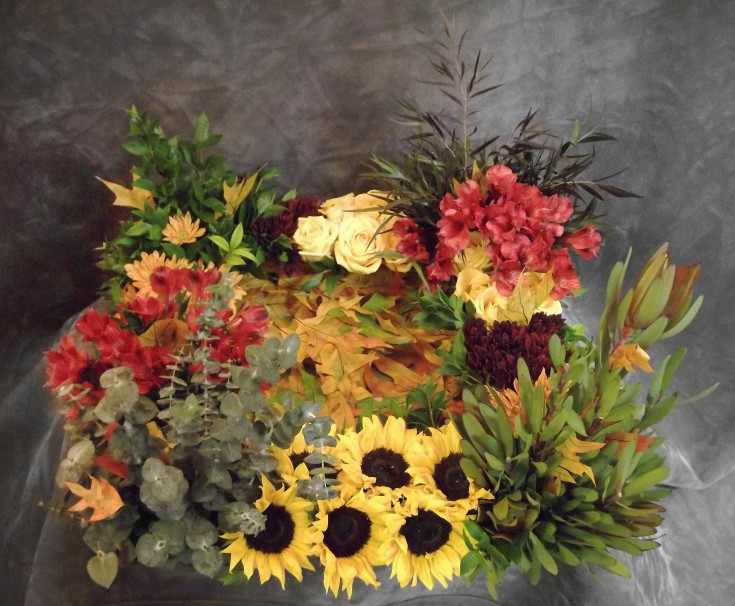 Unique Fall Arrangement by Blossom Shop, Strasburg CO
