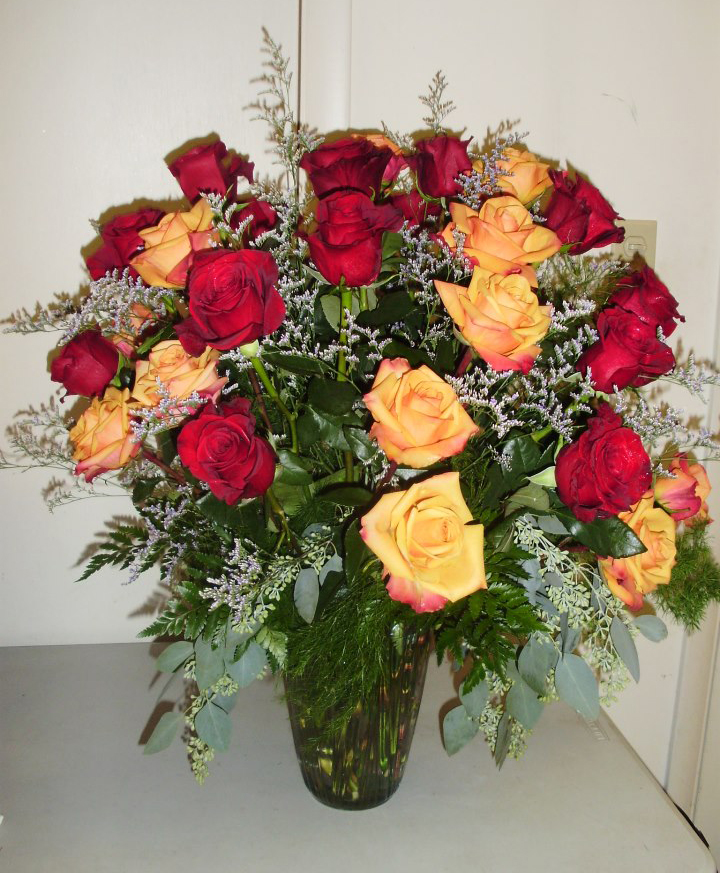 Romantic roses by Burrell's Florist, Millersburg PA
