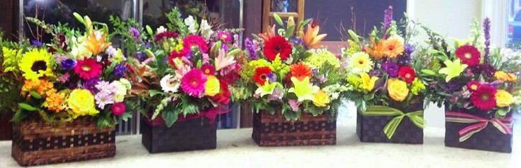 Garden baskets by Floral Design, Post Falls ID