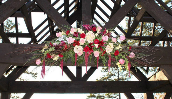 Wedding arch by Libby's Flowers & Gifts, Elberton GA