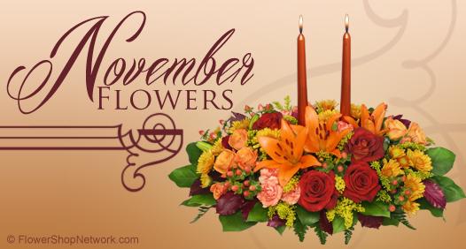November Flower Arrangement of the Month