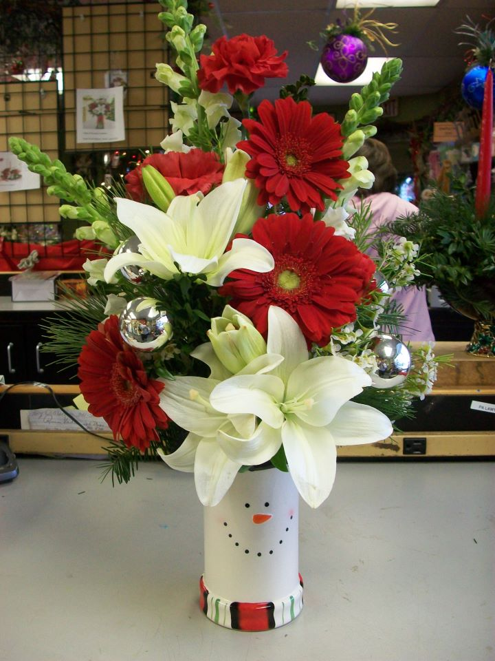 Christmas Arrangement by DeVine Designs, Fulton NY