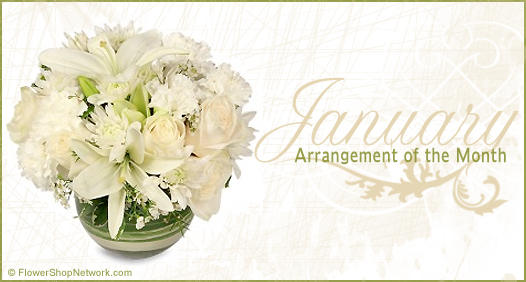 January Flower Arrangement of the Month