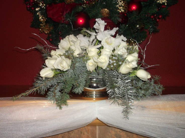 White Christmas flowers by A Lovie Creation Floral Design, Gresham OR