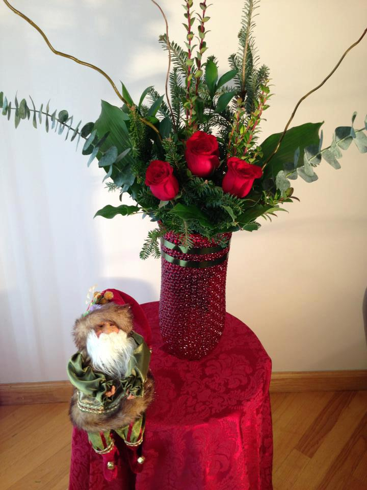 Christmas flowers by Marinas Flowers, Staten Island NY