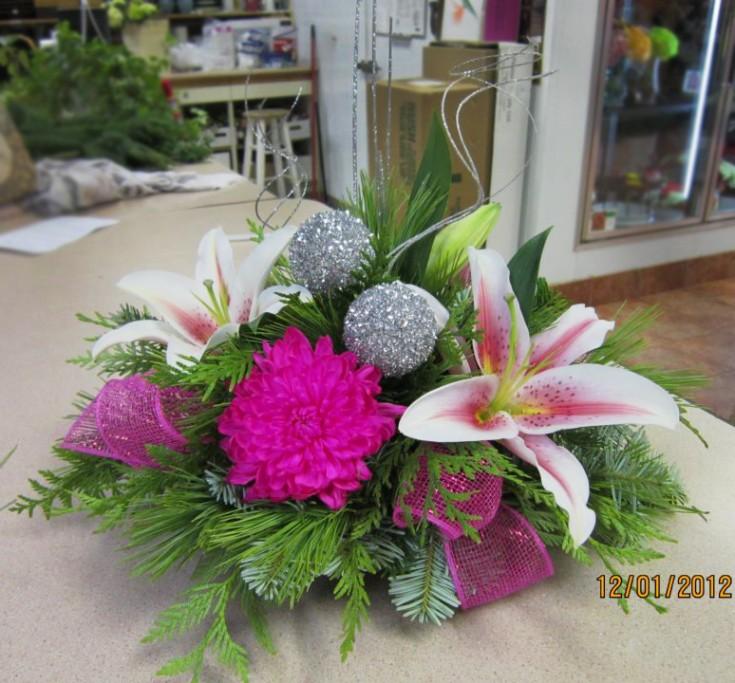 Pink Holiday Flowers By Myra Rose Florist, Winnipeg, MB, CA