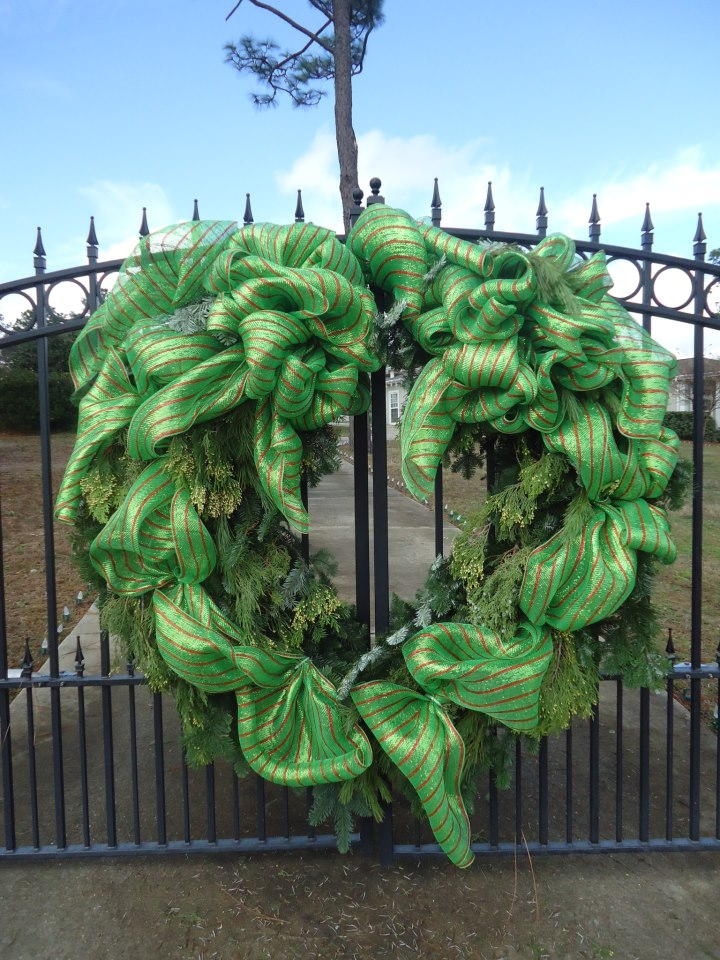 Large Christmas Wreath by Terrie's Floral Shop, Crestview FL