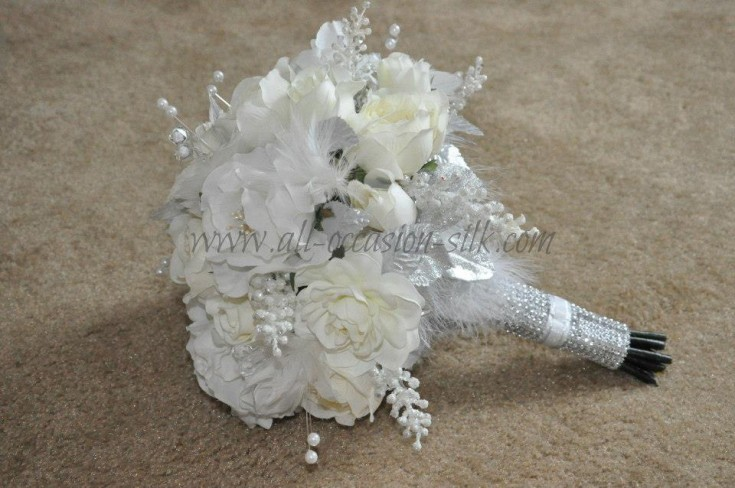 White wedding bouquet by All Occasions, Imperial PA