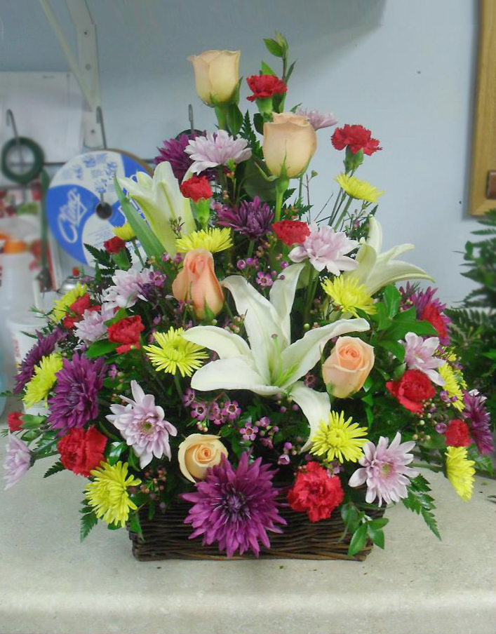 Sympathy arrangement by Buds & Blossoms, Edgewood MD