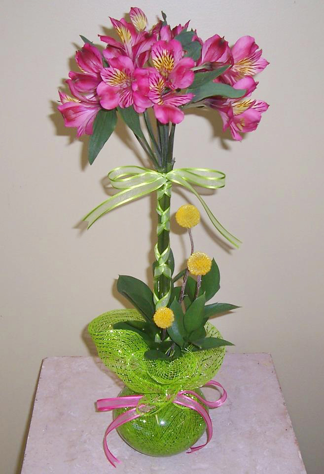 Cute, spring topiary-style arrangement by Electric City Conservative Flowers, Great Falls MT