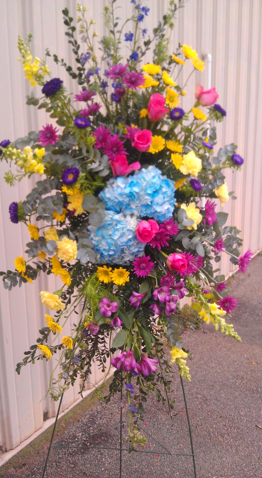 Sympathy spray by Libby's Flowers, Gifts & More, Elberton GA